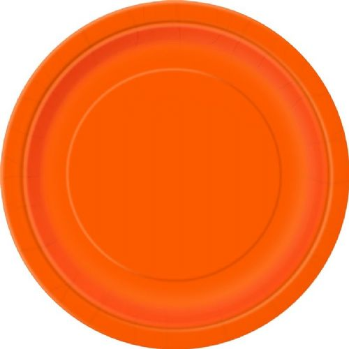 Pumpkin Orange 22cm Plates